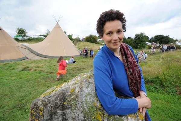 A Working Life - professional storyteller Sita Brand at the Limetree Festival, Grewelthorpe, near Ripon, North Yorkshire