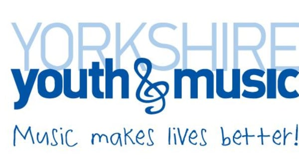 Yorkshire Youth and Musics logo and tagline: Music makes lives better!